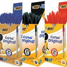 BiC Cristal Medium Biro Ballpoint Pen 1.0 mm Black Blue Red (Pack of 10, 20, 50)