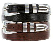 """Vincente Italian Calfskin Genuine Leather Designer Dress Belts, 1-1/8"""" Wide"""