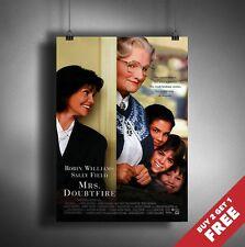 MRS DOUBTFIRE 1993 MOVIE POSTER A3 A4* Robin Williams Classic Comedy Film Print