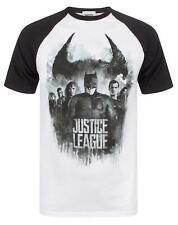 Justice League Character Line Up Raglan Men's T-Shirt