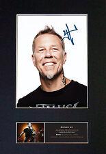 JAMES HETFIELD metallica Signed Mounted Autograph Photo Prints A4 473