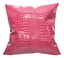 pd1015a Fuschia Faux Crocodile Glossy Leather Cushion Cover/Pillow Case*Custom