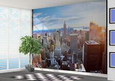 Iluminada por el sol vista de Nueva York Skyline Mural de Pared Foto (21788063) Nueva York