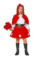 Rotkäpchen Mädchen Kinder Rotkäppchen Kostüm Kleid Märchen Umhang