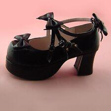 schwarz Shoes gothic goth Stöckel-Schuhe cosplay black-butler dolly ciel rokoko