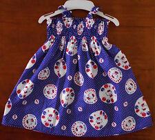 SZ 1 HELLO KITTY, ARIEL, BABY ELMO COTTON SHIRRED TOP DRESS MULTI COLOURED MADE
