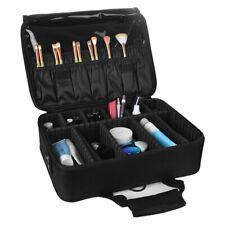 3 Layer Profession Makeup Organizer Bag With Shoulder Strap Adjustable Dividers