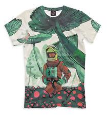 Radioactive mushrooms - psyhedelic magic tee all over printed t-shirt  EDM LSD