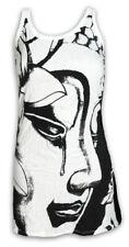 SURE Damen Träger-Kleid Buddha Om Aom Symbol Buddhismus Yoga Lotus Goa Psy S M L