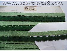 Lot Véritable Dentelle aux fuseaux du Puy en fil DMC Vert 1/5m Nappe galon ruban