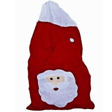 LARGE SANTA CLAUS SACK FATHER CHRISTMAS FELT STOCKING XMAS PRESENT GIFT BAG