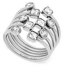 MICHAEL KORS MKJ6015 Modern Brilliance Crystal Pave Open Scatter Ring MKJ6015040