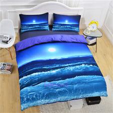 Single/Double/Queen/King Size Bed Quilt/Doona/Duvet Cover Set Ocean Sea Blue