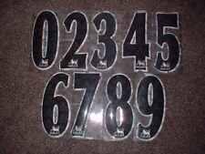 Premier League Numbers Replica 23cm 97-07 Lextra Official Football Soccer Black