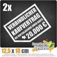 Verbindlicher Kaufvertrag 20.000 € csf0646 12,5 x 10 cm JDM  Sticker Aufkleber