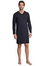 Schiesser Men's Nightshirt Long Sleeve 100% Co Size 48-58 S M L XL XXL 3XL