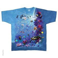 Aquatic-Tropical Reef-Fish-Turtles-Tie Dye Tshirt M-L-Xl-Xxl, 3X-4X-5X-6X-7X-8X