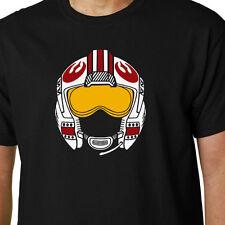 Luke X-Wing Helmet t-shirt STAR WARS JEDI SKYWALKER FORCE AWAKENS FIGHTER GEEK