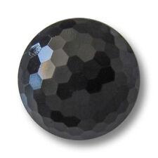 5 elegante schwarze Halbkugel Kunststoffknöpfe wie alte Glasknöpfe (4419sc)