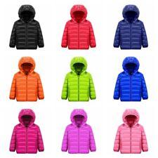 Kinder Jungen Mädchen Daunenjacke Kapuze Steppjacke Leicht Warm Winter Gefüttert