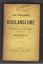 LES COULISSES DU BOULANGISME X... DU FIGARO CHEZ LEOPOLD CERF 1890