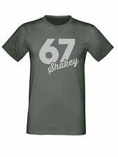 "Shane Byrne 67 ""Shakey"" BSB British Superbikes Silver Logo Charcaol t shirt"