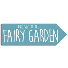 Fairy Garden-Freccia In Metallo Muro Firmare La Placca ART-Polvere Magica Ali Pixie Ragazze