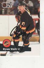 RYANE WALTER SIGNED 1991 PROSET #504 - VANCOUVER CANUCKS