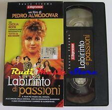 film VHS LABIRINTO DI PASSIONI Pedro Almodovar  CUSTODIA CARTONATA (F27)  no dvd