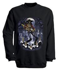 (10243-1 Nero) Sweatshirt S M L XL XXL 3XL 4XL motivo SHIRTS - Ghost chitarra
