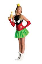 Costume Carnevale Donna Da Marvin Marziano Vestito Abito Halloween Looney Toons
