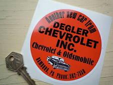 DEGLER CHEVROLET & OLDSMOBILE Dealer Car STICKER Classic Hamburg PA Americana