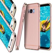 Samsung Galaxy S6 Edge Hybrid Cover Hülle Hardcase Handyhülle Tasche Gold Case