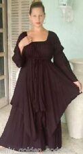 black dress peasant layered renaissance S M L XL OS 1X 2X 3X 4X 5X 6X  plus size