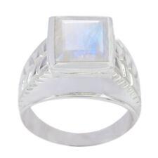 Regenbogen Mondstein Ringe 925 Silber Ring weißer Ring sexy Schmuck Edelstein DE