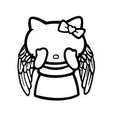 """5"""" Hello Kitty Ángel Llorando Vinilo Autoadhesivo Con Ventana De Coche Portátil Dr Who Rip"""