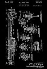 1943 - Pump Type Dart Gun - Wyandotte - All Metal Products - Patent Art Poster