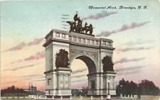 Brooklyn Ny Memorial Arch 1909 P/C