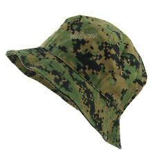 Mens Womens Digital Woodland Camo Bucket Hat Cap Boonie Brim Visor Sun  Safari 9235ade9e583