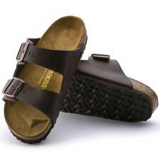 Birkenstock ARIZONA Unisex Mens Womens Ladies Birko-Flor (Leather Footbed) Brown