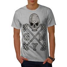 Wellcoda Skull Gym Fitness Sport Mens T-shirt, Work Graphic Design Printed Tee