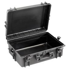 Notfallkoffer schwarz mittelgroß, leer, ABS Kunststoff, wasser- und staubdicht