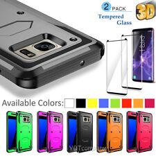 Shockproof Hybrid Hard Case Cover For Samsung + Case Friendly 3D Tempe