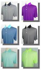 New Men's Cutter & Buck DryTec Trevor Stripe Short Sleeve Polo Shirt L 6 Colors