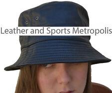 Leather Boonie Bucket Hat