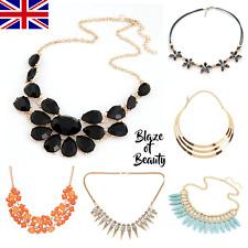 Ladies Fashion Necklace Jewellery Statement Costume Chain Bib Chunky Womens UK