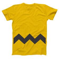 Charlie Brown Adult Funny  Humor  Costume Gold Basic Men's T-Shirt