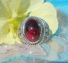 Ring Hessonit Granat rot Türkisch Sterling Silber 925 Geburts- Stein d Januar