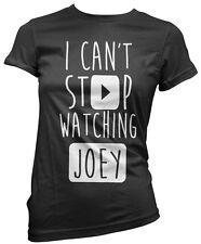 No puedo dejar de ver Joey-vlogger Star youtubers Niñas Camiseta Muchos Tamaños