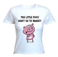 Questo maialino non è andato a MARKET T-Shirt-Vegetariano Vegan Vegetariano Sz S-XL